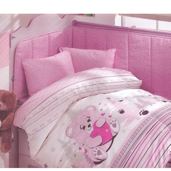 Lenjerie creaforce baby- bumbac 100% Ursulet roz
