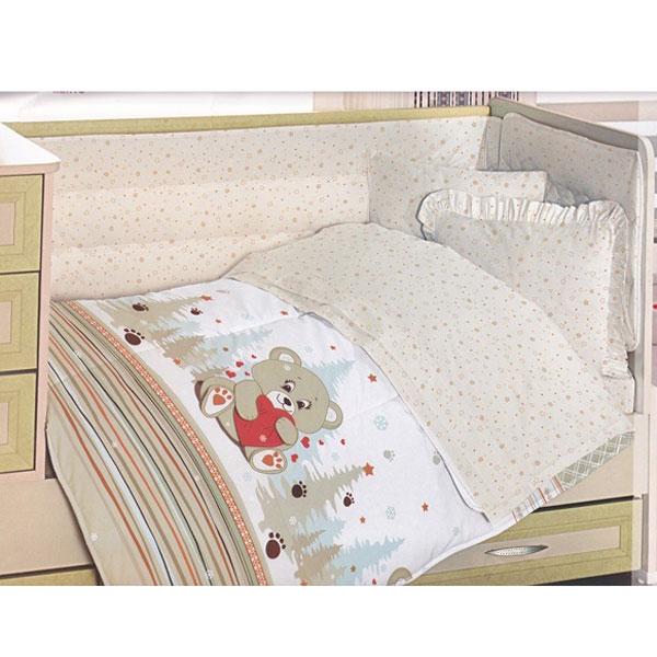 Lenjerie creaforce baby- bumbac 100% - Ursulet crem