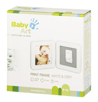 Rama - Print Frame White & Grey