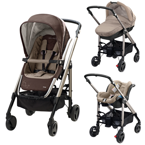 Carucior 3 in 1 Trio Loola2 Walnut Brown de la Bebe Confort