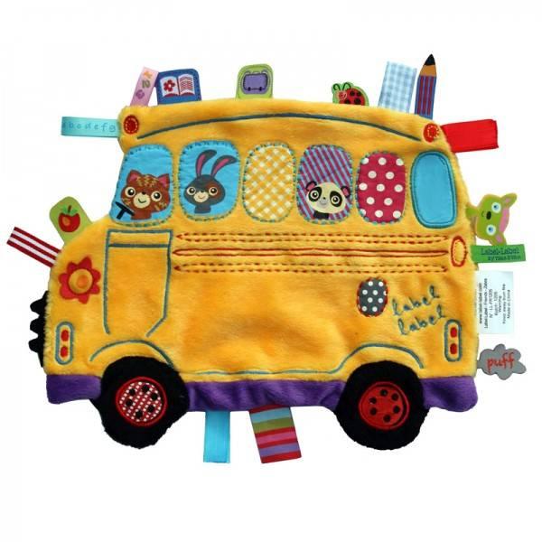 Minipaturica de somn si joaca Holiday Schoolbus