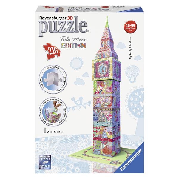 Puzzle 3D Big Ben - Colorat, 216 Piese