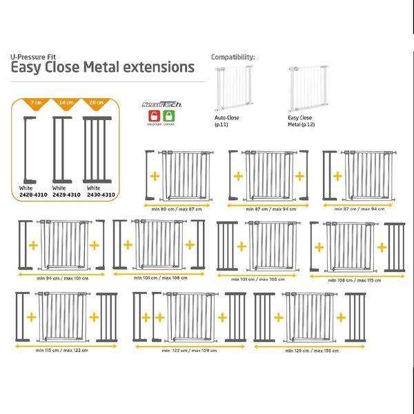 Extensie 28cm poarta Easy Close Metal
