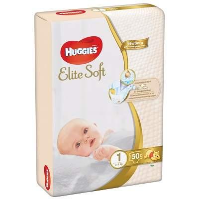 Scutece Elite Soft nr 1 Jumbo, 2-5 kg, 50 buc
