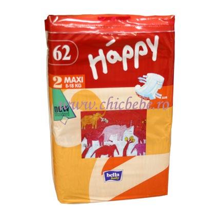 Scutece Happy Maxi 52 buc