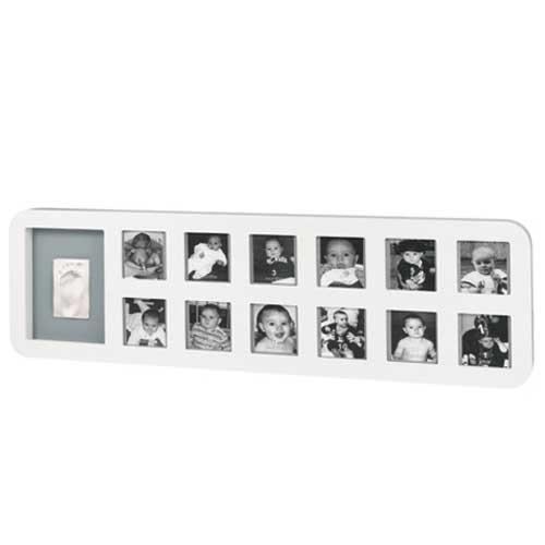 First Year Print  Frame  WHITE & GREY