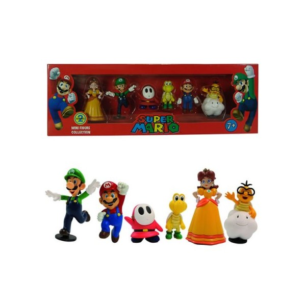 Mini - Figurine Mario (Set de 6buc)