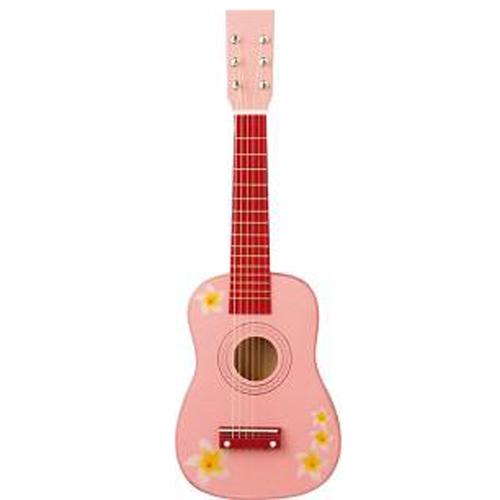 Chitara roz cu flori 3-5 ani