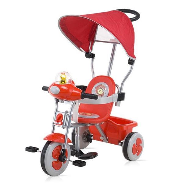 Tricicleta cu copertina - LUX red/black