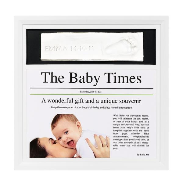 Newsprint frame white & black