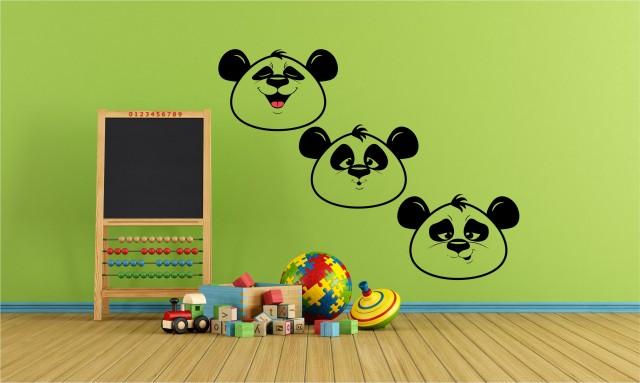 Ursuleti panda Sticker dim 122cm x 27cm