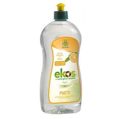 Solutie Eco pentru spalat vase si biberoane cu portocale Ekos, 750 ml