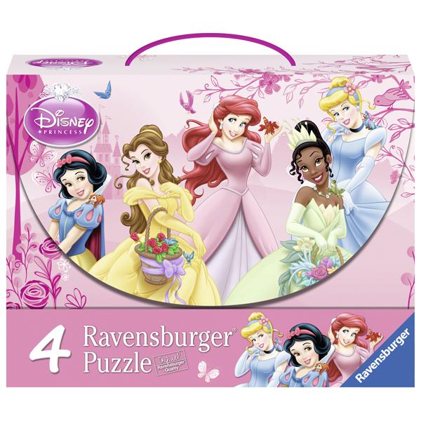 Puzzle Printesele Disney, 2 x 12 pcs