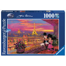 Puzzle Disney apusul la Paris, 1000pcs