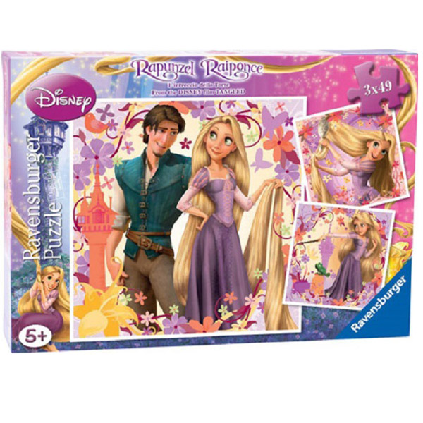 Puzzle Rapunzel, 3x49 piese