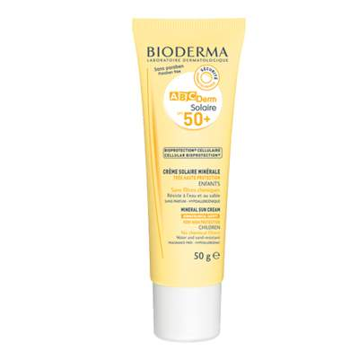 Crema protectie solara ABCDerm Solaire SPF 50+, 50 g