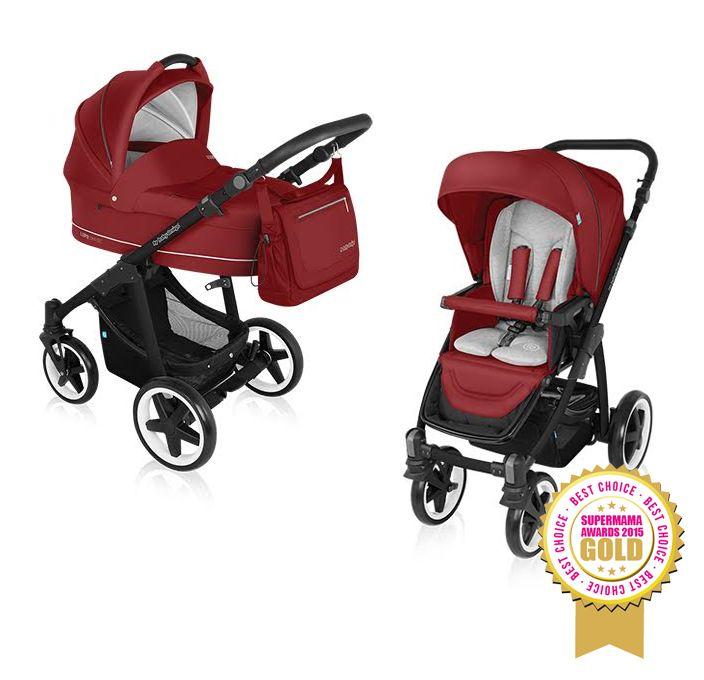 Carucior Multifunctional 2 in 1 Lupo Comfort 02 Dark Red 2016