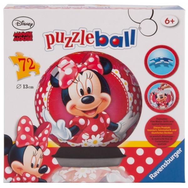 Puzzle 3D Minnie Mouse, 72 piese