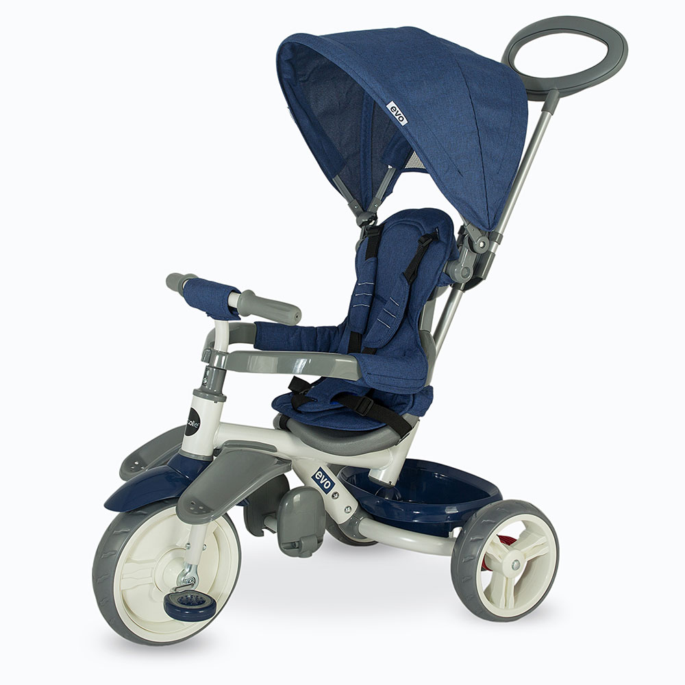 Tricicleta multifunctionala Coccolle Evo Albastra