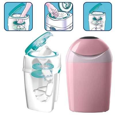 Coș pentru scutece utilizate - Sangenic Tec, roz,